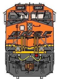 Stoddarts Ltd. 3917 - 3D Railroad Wall Artwork - BNSF ET44 #3917