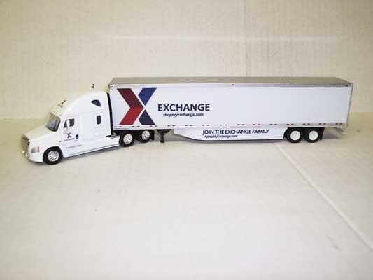 Trucks n Stuff 30110 HO - Cascadia Sleeper-Cab Tractor - 53ft Dry Van Trailer - Exchange