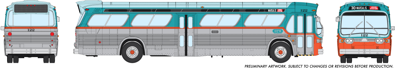 Rapido Trains 753025 HO New Look Bus Dallas Transit System (DTS) Dallas No.130 Deluxe