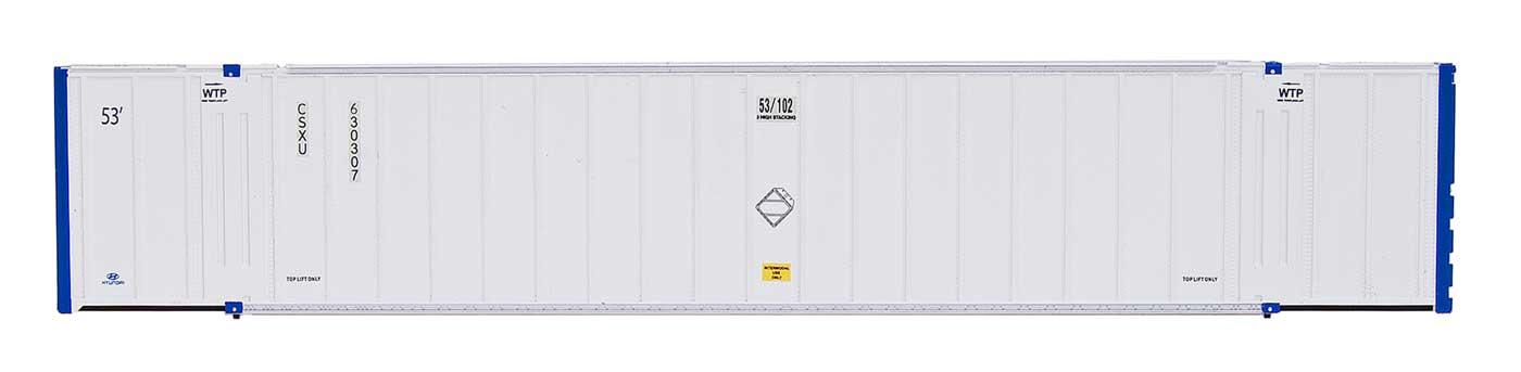 Intermountain Railway 30654 HO Scale 53 Hyundai Hi-Cube Container 2-Pack - Ready to Run -- CSXU - CSXU 630265/630575  85-30654-04
