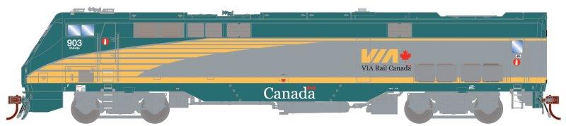 Athearn G81112 - HO Scale AMD103/ P42DC - DCC Ready - VIA #915