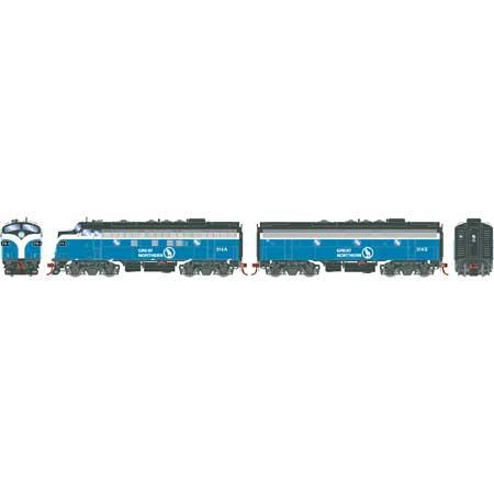 Athearn Genesis G19330 HO Scale - F7 A/B EMD F-Unit Diesel - DCC Ready - Great Northern#314A/314B