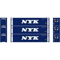 Athearn 27033 - HO 45ft Container - NYK (3/pkg)