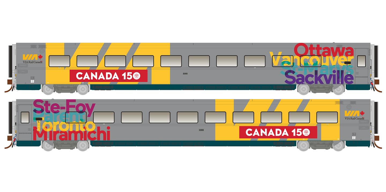 Rapido Trains 108052 HO LRC Coach - Canada 150 Wrap Scheme #3355 - Pre-order