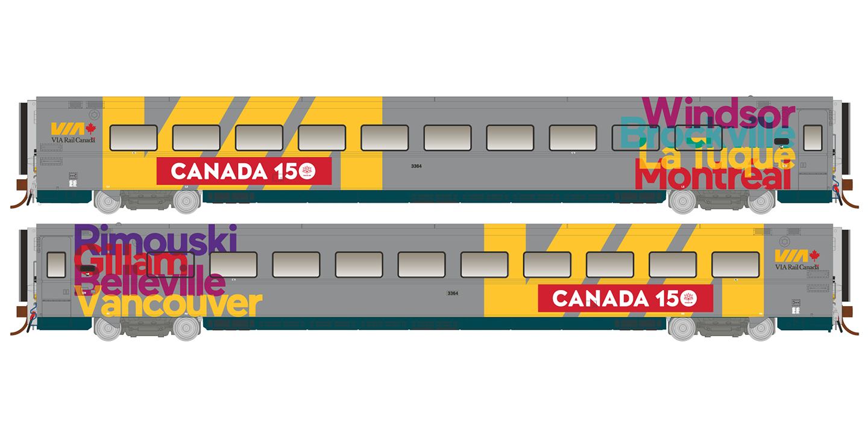 Rapido Trains 108053 HO LRC Coach - Canada 150 Wrap Scheme #3364 - Pre-order
