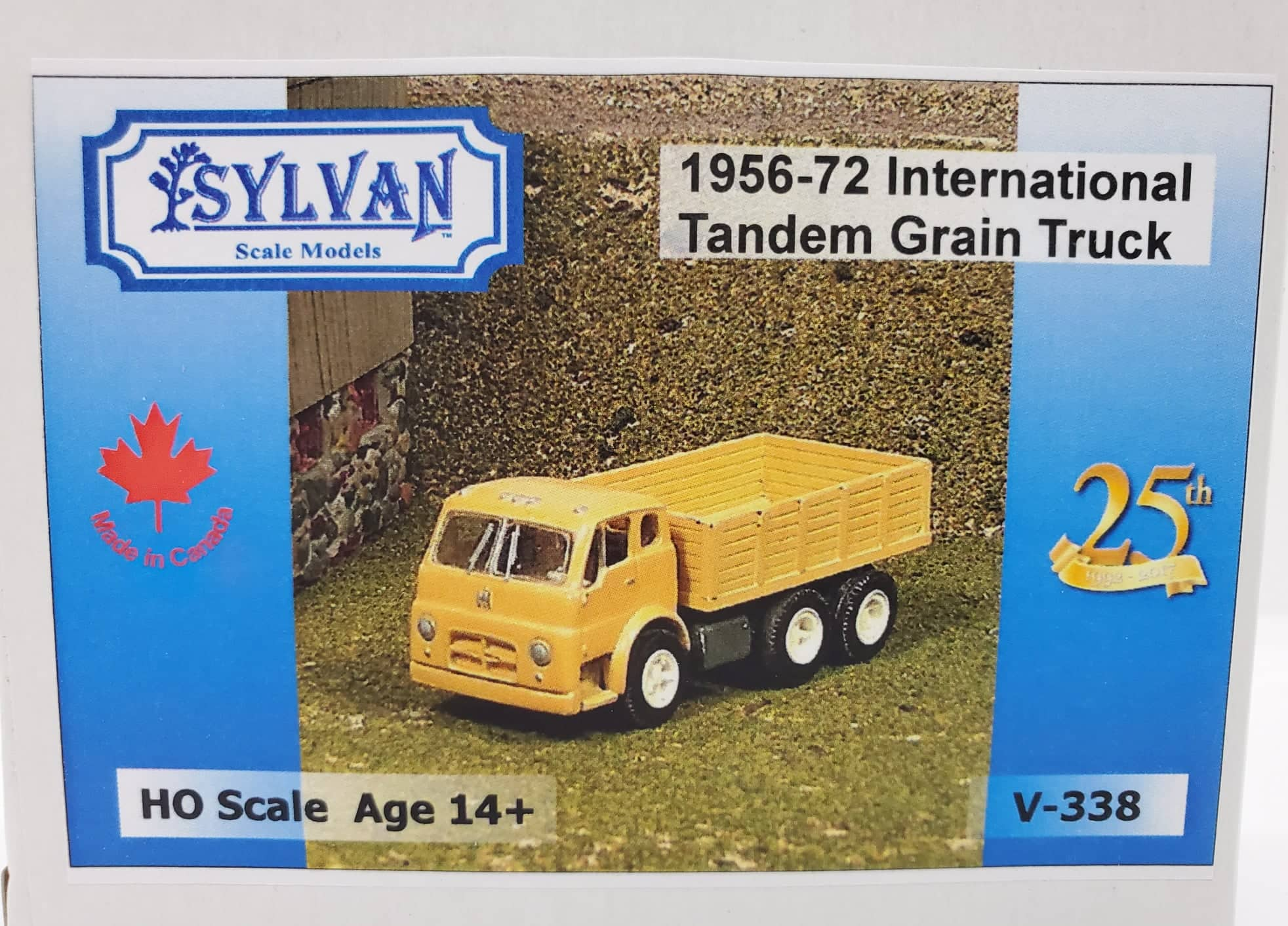 Sylvan Scale Models 338 HO Scale - 1956/72 IHC-190 Tandem Grain Truck - Unpainted and Resin Cast Kit