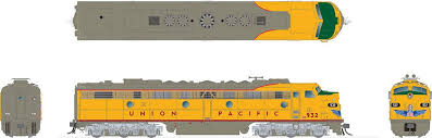Rapido 28540 HO - EMD E8A + E8B Set (DC/DCC/Sound) Union Pacific #938, 938B