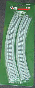 "Kato Unitrack 20-520 N Scale Single Track Viaduct Curved  R315-45V (R 12 3/8""-45)- 2PCS"