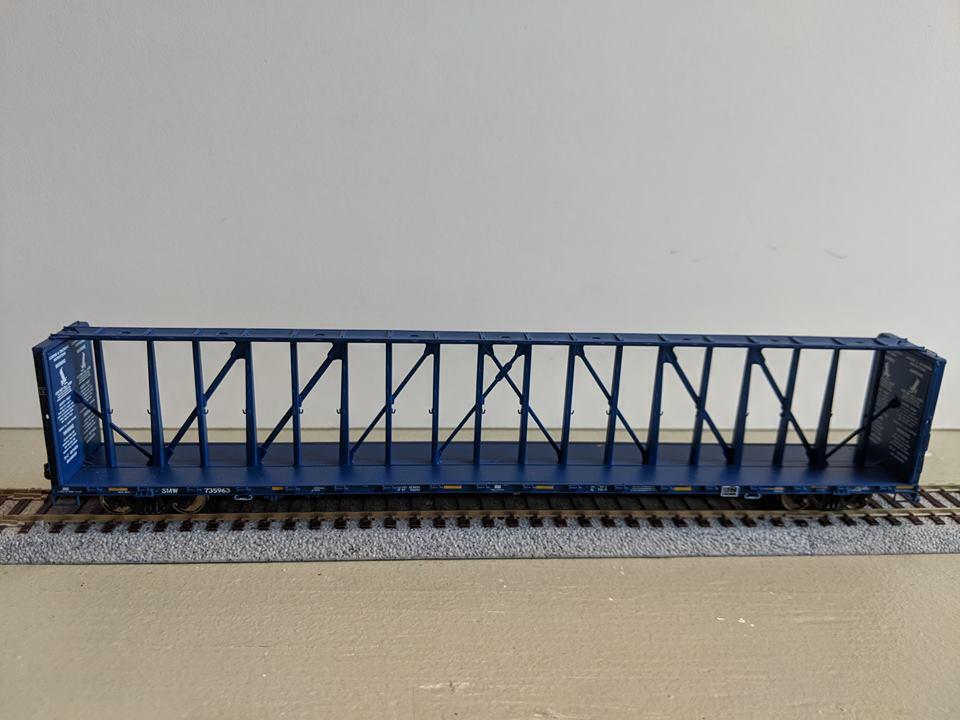 Atlas 20 004 517 HO 73 Ft Center Partition Car - Assembled - St. Marys Railway West #735963