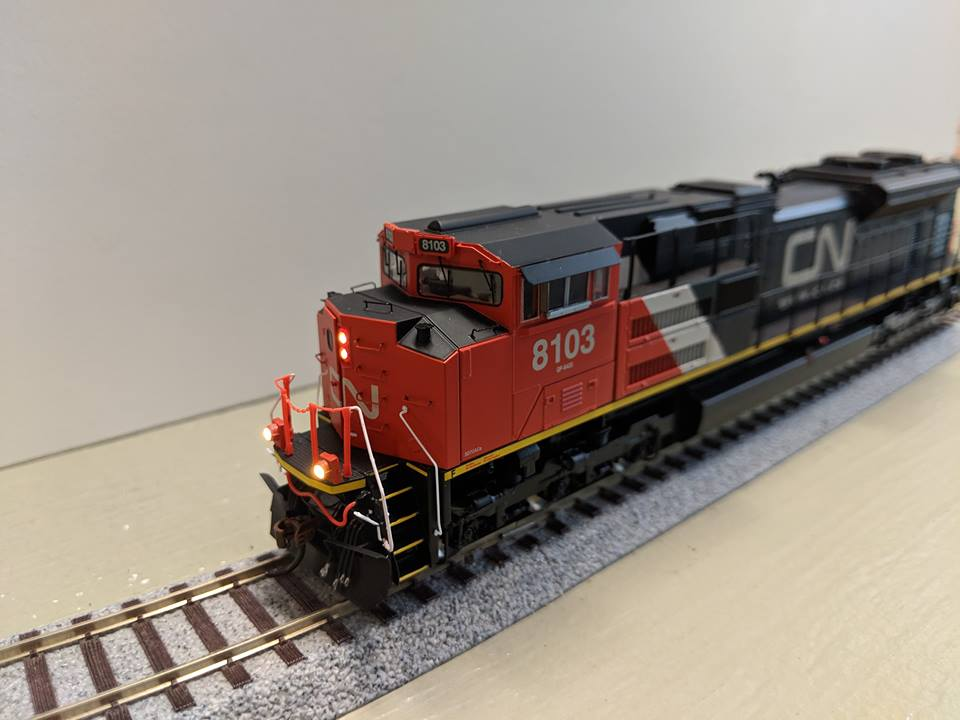 Athearn G68892 HO SD70ACe, DCC & Sound - Canadian National CN #8101/Re-Paint