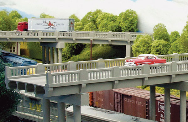 Rix Products 102 HO Vintage Highway Overpass 50 FT. Span with Pier