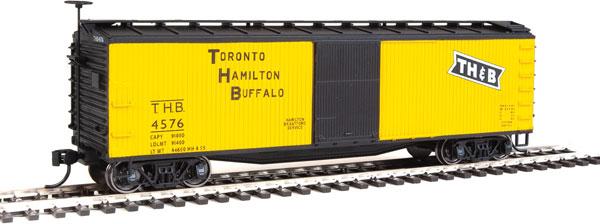 Walthers Mainline 40163 - HO 40ft USRA Wood Boxcar - Toronto, Hamilton, & Buffalo #4576