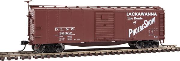 Walthers Mainline 40819 HO - 40 ft Rebuilt Steel Boxcar - Delaware, Lackawanna, & Western #36320