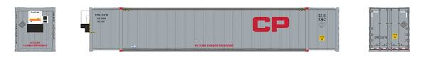 Rapido 402016 HO - 53Ft High Cube Container - CP - Gray(2-pack 731775 and 731788)