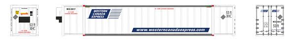 Rapido 402022 HO - 53Ft High Cube Container - Western Canada Express (2-pack 200537 and 200548)