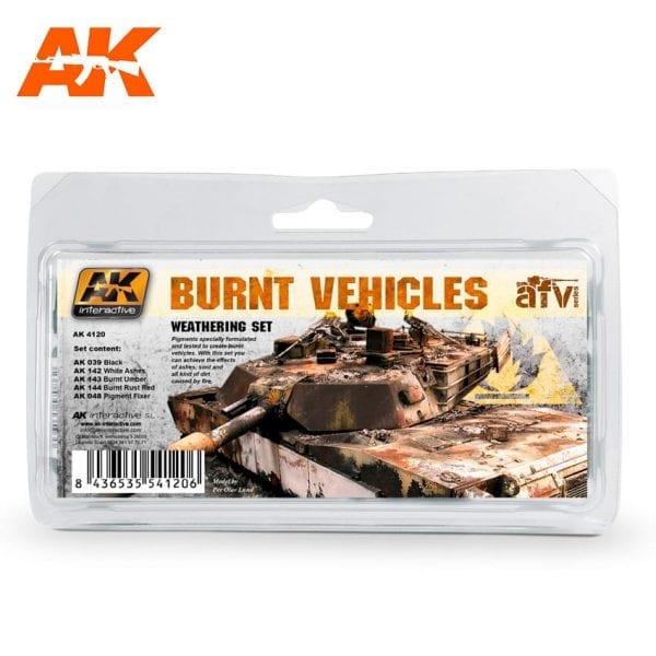 AK Interactive 4120 - Burnt Vehicles Weathering Set