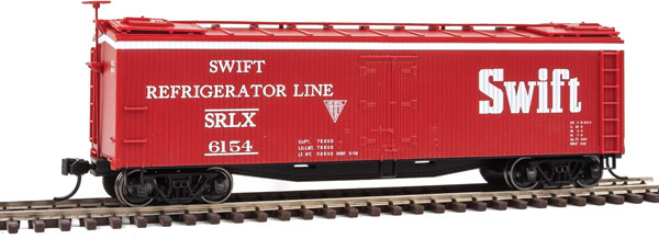 Walthers Mainline 41221 HO - 40 ft Early Reefer - Swift Refrigerator Line SRLX #6154