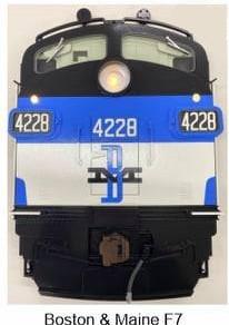 Stoddarts Ltd. 4228 - 3D Railroad Wall Artwork - Boston & Maine F7 #4228
