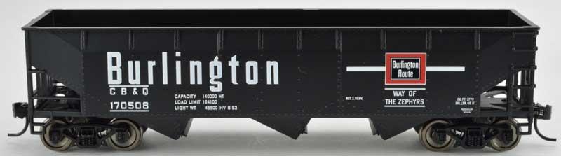 Bowser 42288 HO - RTR 70 Ton Offset Hopper - Burlington CB&Q #170529