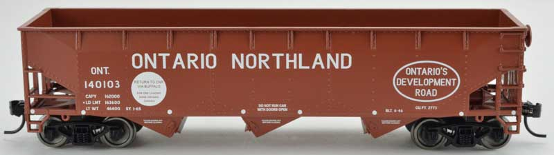 Bowser 42308 HO - RTR 70 Ton Offset Hopper - Ontario Northland #140127