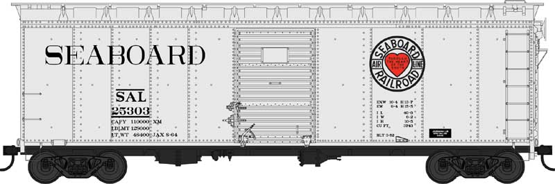 Bowser 42456 HO - 40Ft Steel Side Box Car - SAL Beer Car Heart Logo -Ready to Roll- No.25379