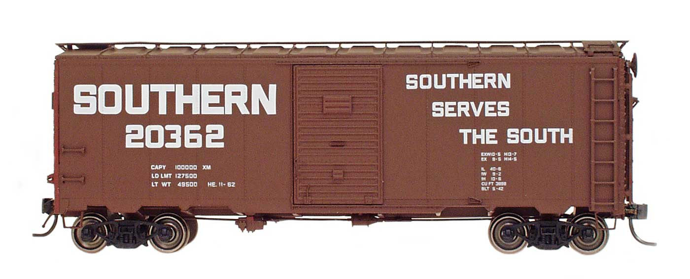Intermountain 45814-20 HO Scale - 10Ft 6In Modified 1937 AAR Boxcar - Southern Billboard #20128