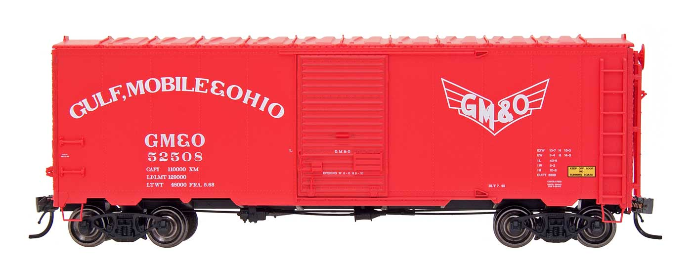 Intermountain 45828-10 HO Scale - 10Ft 6In Modified 1937 AAR Boxcar - Gulf, Mobile & Ohio #52567