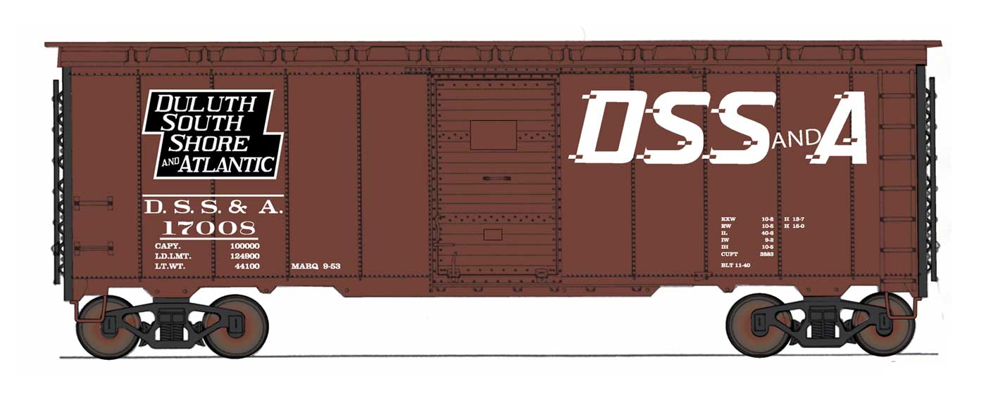 Intermountain 45841-06 HO Scale - 10Ft 6In Modified 1937 AAR Boxcar - Duluth, South Shore & Atlantic #17091