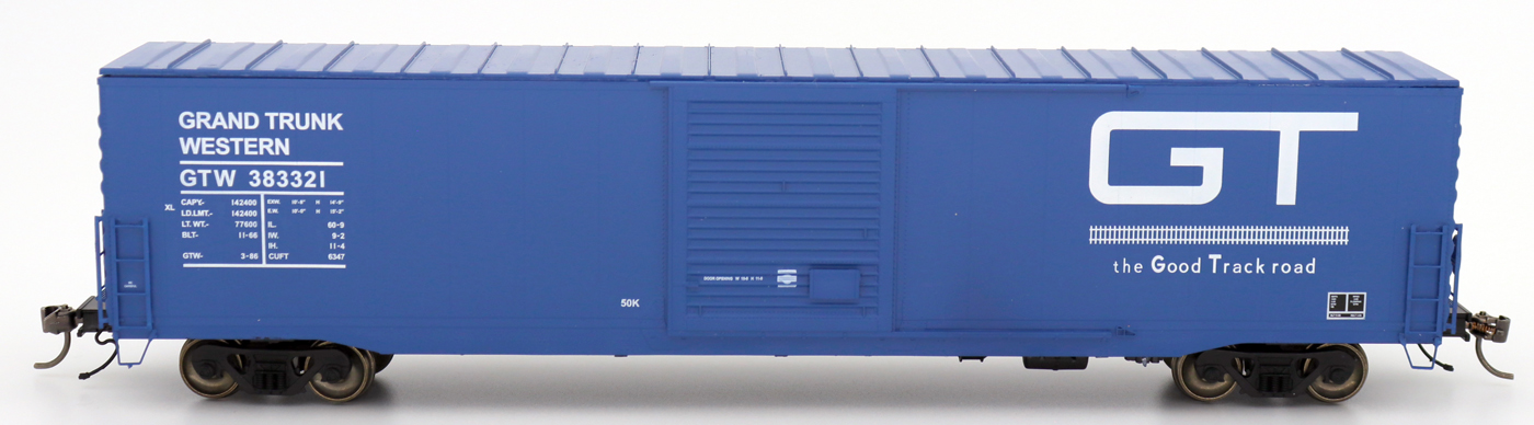 Intermountain 46906-04 HO Scale - 60Ft PS-1 Boxcar - Grand Trunk Western - Blue #383378