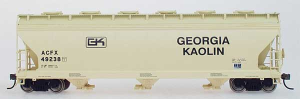Intermountain Railway 47025-02 HO ACF 4650 Cubic Foot 3-Bay Hopper - Georgia Kaolin ACFX 49225