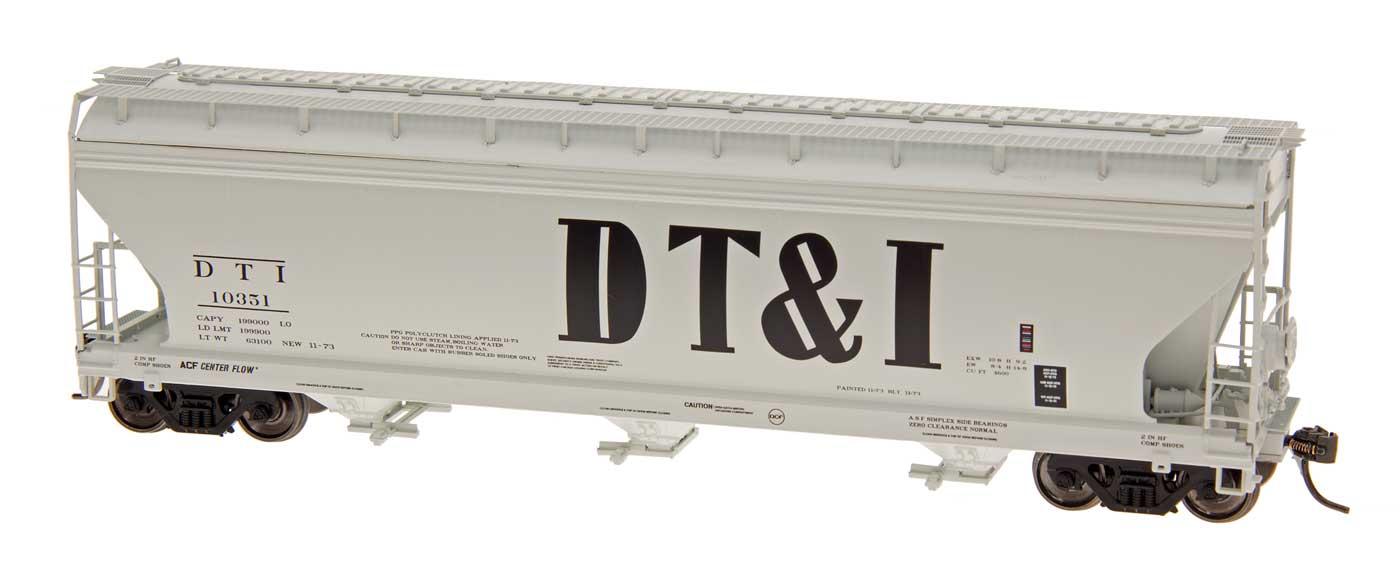 Intermountain Railway 47071-05 HO ACF 4650 Cubic Foot 3-Bay Hopper - Detroit, Toledo and Ironton - DT&I - #10370