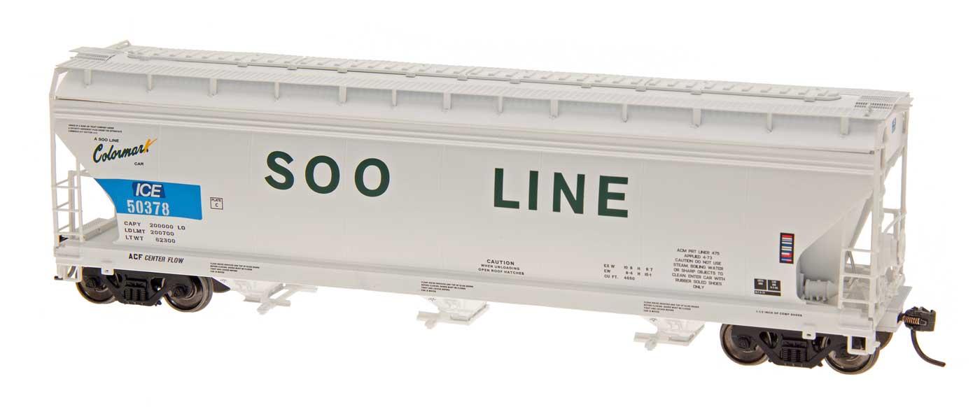 Intermountain Railway 47089-02 HO ACF 4650 Cubic Foot 3-Bay Hopper - Soo Line ICE #50314