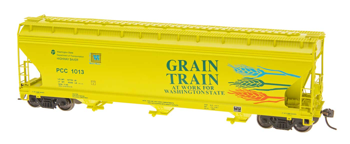 Intermountain Railway 47092-13 HO ACF 4650 Cubic Foot 3-Bay Hopper - Grain Train PCC #1001