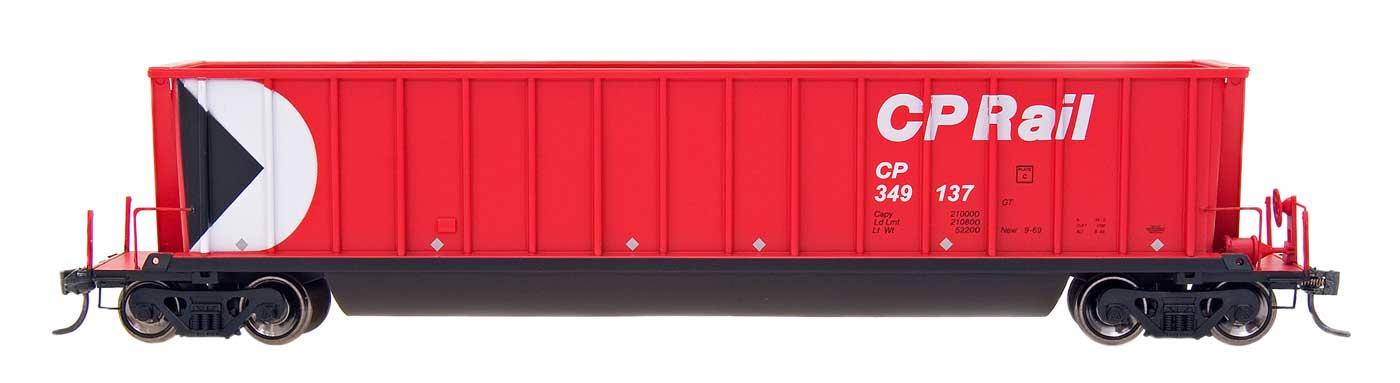 Intermountain Railway 47102-67 HO - Bathtub Coal Gondola - Canadian Pacific Multimark Red CP 349440