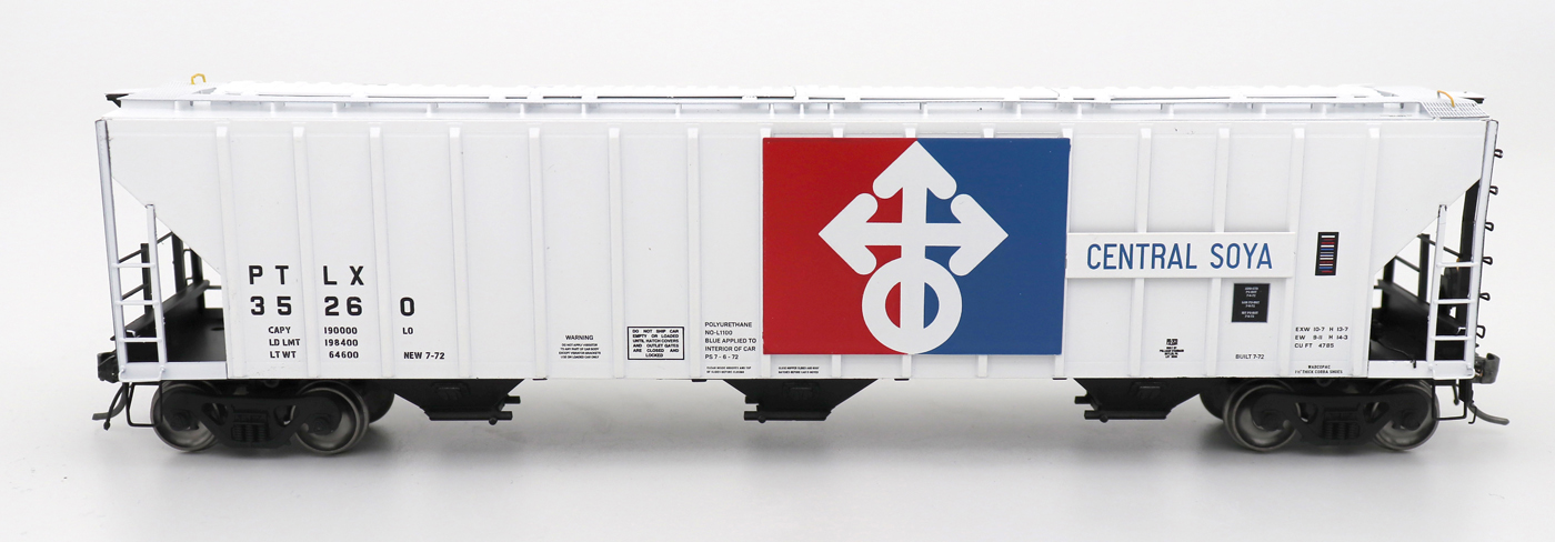 Intermountain 472251-03 HO Scale - 4785 PS2-CD Covered Hopper - Late End Frame - Central Soya #35248