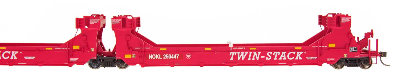 Intermountain Railway 47614-02 HO Gunderson Twin Stack Container Car - 5 Car set - NOKL #250132