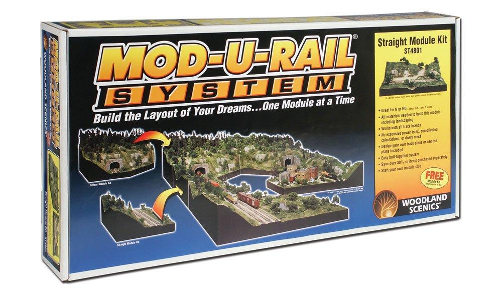 Woodland Scenics 4801 - Mod-U-Rail System - Straight Module Kit
