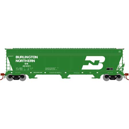 Athearn Genesis G15818 - HO ACF 4600 3-Bay Centerflow Hopper - Burlington Northern #481201