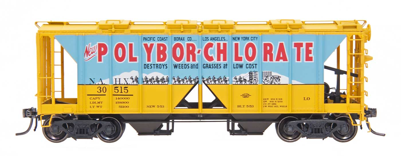 Intermountain 48643-03 HO 1958 Cu Ft 2 Bay Covered  Hopper- Open Sides - Polybor-Chlorate NAHW #30516