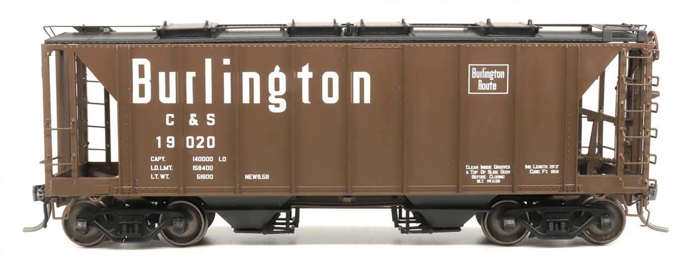 Intermountain 48685-5 HO 1958 Cu Ft 2 Bay Covered  Hopper- Closed Sides - Colorado and Southern #19065