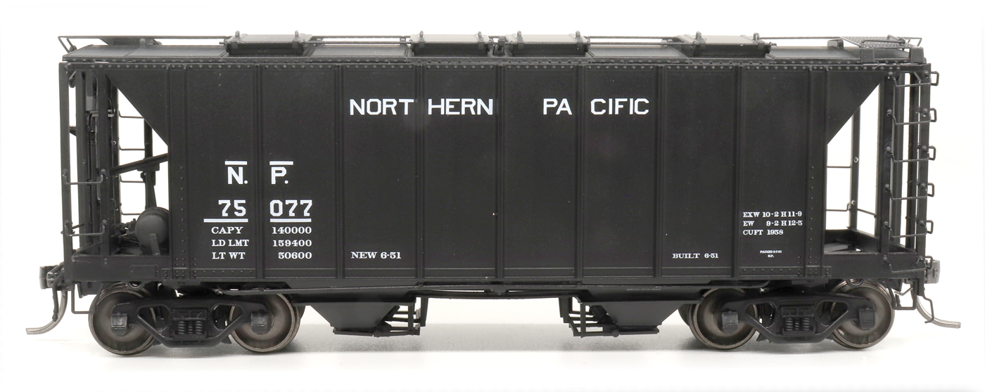 Intermountain 48689-02 HO 1958 Cu Ft 2 Bay Covered  Hopper- Closed Sides - Northern Pacific #75052