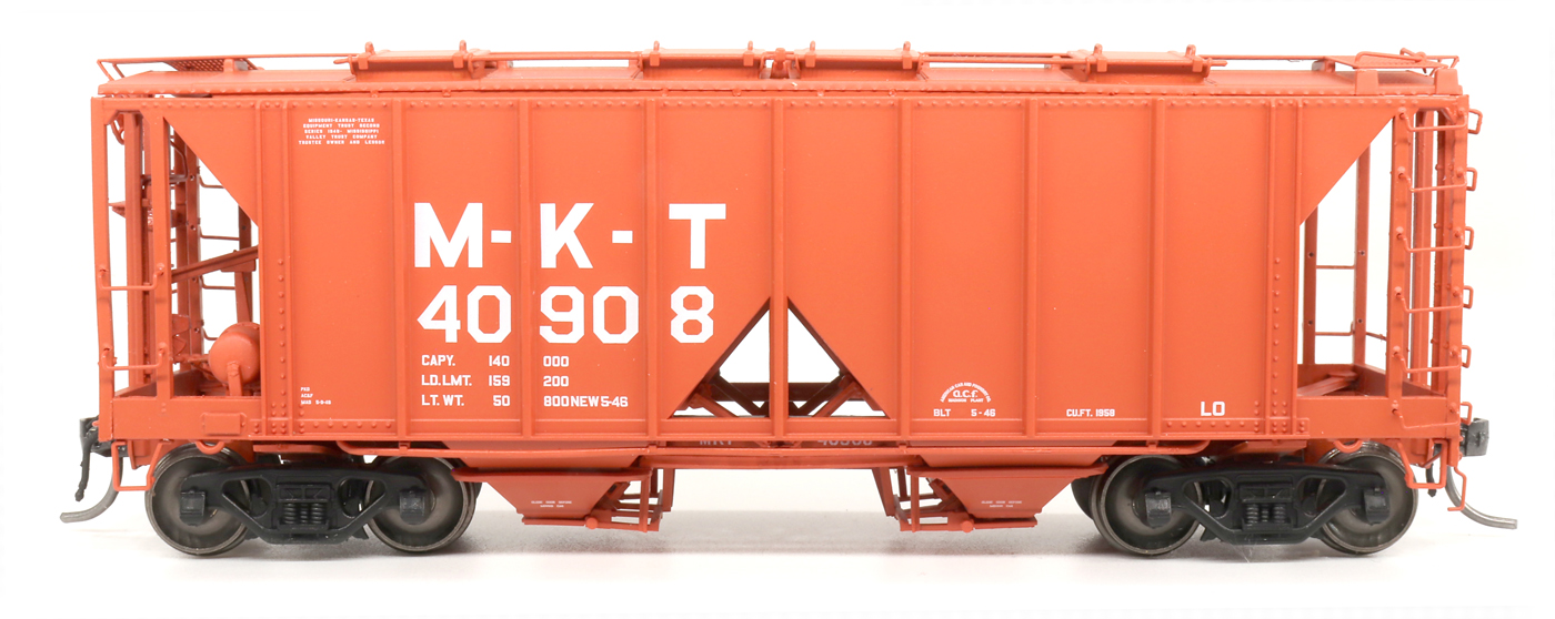 Intermountain 48691-03 HO 1958 Cu Ft 2 Bay Covered  Hopper- Open Sides -MKT #40926