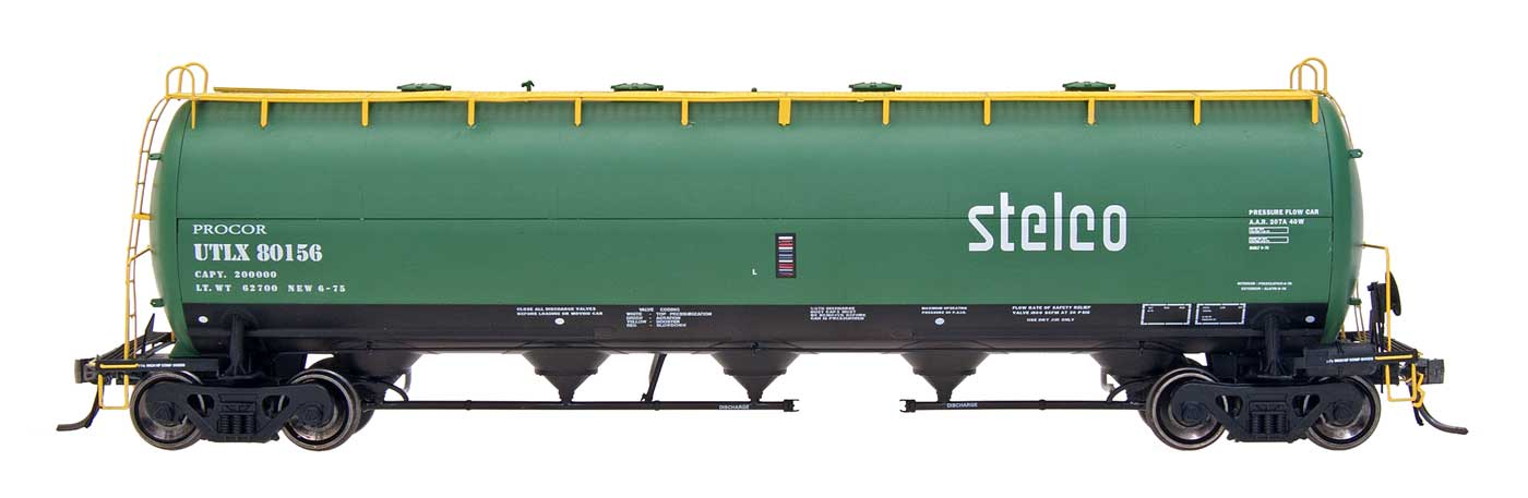 Intermountain Railway 48904-8 HO Procor Pressure Flow Hoppers  Stelco #80159