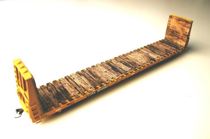 ITLA Scale Models Inc. 4900 - HO wood deck for Atlas 62ft Bulkhead Flatcar (tall)