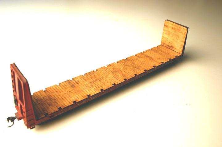 ITLA Scale Models Inc. 4904 - HO wood deck for Athearn 60ft Bulkhead Flatcar