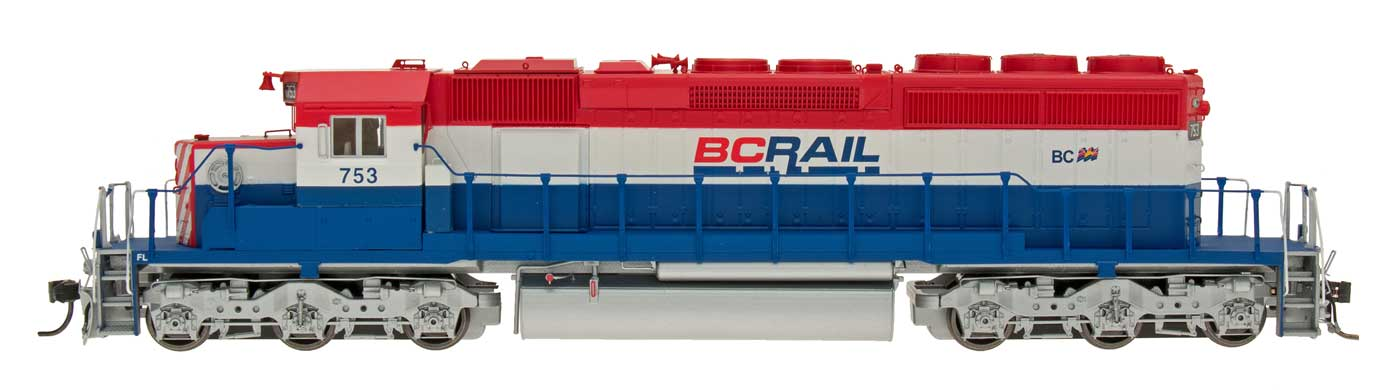 InterMountain 49365S-02 HO Diesel EMD SD40-2 ESU LokSound DCC BC Rail #754