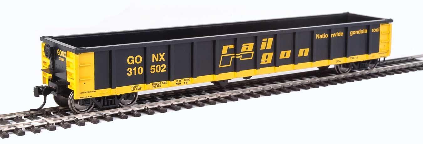Walthers 6226 HO Scale - 53Ft Railgon Gondola - Ready To Run - Railgon GONX #310502