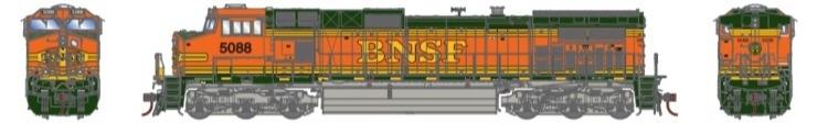 Athearn G31615 HO Scale - G2 Dash 9-44CW Diesel, DCC & Sound - BNSF Railway H2 #5088
