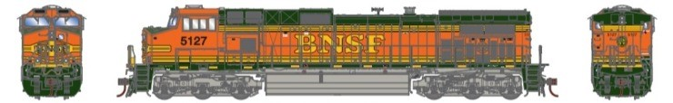 Athearn G31516 HO Scale - G2 Dash 9-44CW Diesel, DCC Ready - BNSF Railway H2 #5127