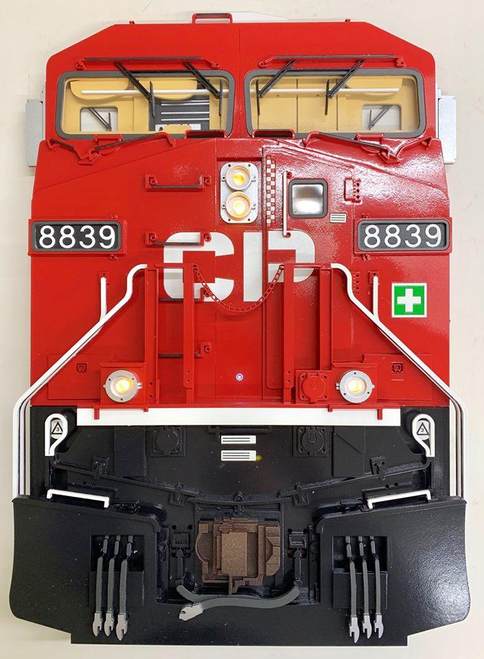 Stoddarts Ltd. 8839 - 3D Railroad Wall Artwork - CP Dash-9 #8839